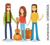 hippie people design | Shutterstock .eps vector #643880626