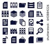 file icons set. set of 25 file...   Shutterstock .eps vector #643884226