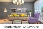 interior living room. 3d... | Shutterstock . vector #643890970
