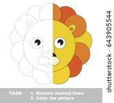 lion face. dot to dot... | Shutterstock .eps vector #643905544
