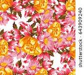 abstract elegance seamless...   Shutterstock . vector #643909240