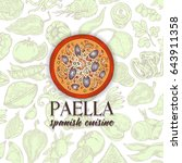 vector image.paella ingredients ... | Shutterstock .eps vector #643911358