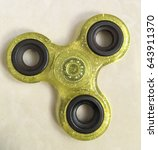 Small photo of Fidget hand spinner finger tips gyro stress reliever toy tri-spinner whing for autism and ADHD kids.