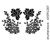 vector floral silhouette on... | Shutterstock .eps vector #64391287