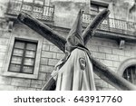 holy week procession  detail of ... | Shutterstock . vector #643917760