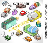 car crashes and other vehicle... | Shutterstock .eps vector #643924900