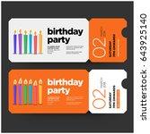happy birthday invitation... | Shutterstock .eps vector #643925140