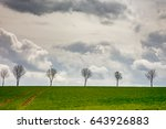 nature landscape in spring  | Shutterstock . vector #643926883