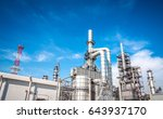 industrial zone the equipment... | Shutterstock . vector #643937170