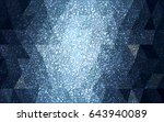 dark blue vector christmas... | Shutterstock .eps vector #643940089