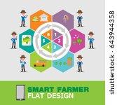 smart farmer info graphic... | Shutterstock .eps vector #643944358
