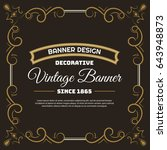 vintage flyer background design ... | Shutterstock .eps vector #643948873