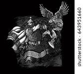 russian hero. warrior. | Shutterstock .eps vector #643951660