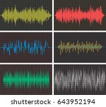 vector music backgrounds of... | Shutterstock .eps vector #643952194