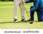 trainer golf tutor practice for ... | Shutterstock . vector #643954198