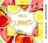 hello summer. summer background ... | Shutterstock . vector #643961044