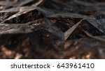 3d abstract textured low poly... | Shutterstock . vector #643961410