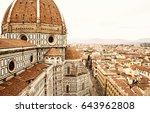 cathedral santa maria del fiore ... | Shutterstock . vector #643962808