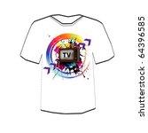 retro tv background . t shirt... | Shutterstock .eps vector #64396585