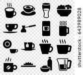 coffee icons set. set of 16... | Shutterstock .eps vector #643989028