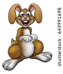 a rabbit or easter bunny... | Shutterstock . vector #643991698