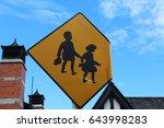 sign warning children crossing  ... | Shutterstock . vector #643998283