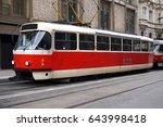 tram in prague  czech republic   Shutterstock . vector #643998418