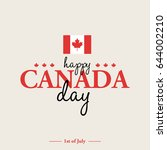 happy 1th of july canada day... | Shutterstock . vector #644002210