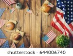 patriotic holiday. usa are... | Shutterstock . vector #644006740