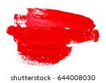 red strokes of the paint brush... | Shutterstock . vector #644008030