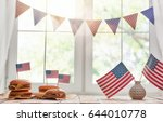 patriotic holiday. usa are... | Shutterstock . vector #644010778