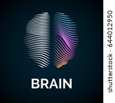 vector logo brain color... | Shutterstock .eps vector #644012950