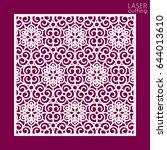 laser cut square ornamental... | Shutterstock .eps vector #644013610