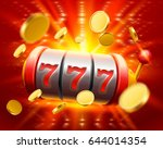 big win slots 777 banner casino.... | Shutterstock .eps vector #644014354