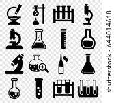 lab icons set. set of 16 lab... | Shutterstock .eps vector #644014618