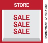 shop with empty display sale... | Shutterstock .eps vector #644015980