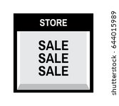 shop front store illustration... | Shutterstock .eps vector #644015989
