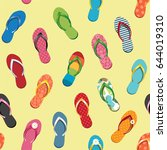 seamless pattern with colorful... | Shutterstock .eps vector #644019310