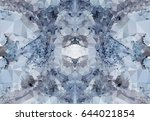 abstract mosaic background.... | Shutterstock . vector #644021854