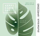 world earth day awareness... | Shutterstock .eps vector #644023060
