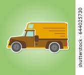 color icon with farm truck for... | Shutterstock .eps vector #644025730