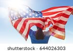 patriotic holiday. happy young... | Shutterstock . vector #644026303