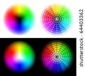 vector colored wheels in rgb... | Shutterstock .eps vector #64403362