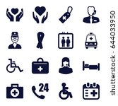 help icons set. set of 16 help... | Shutterstock .eps vector #644033950