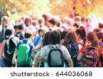 kids in the nature strolling | Shutterstock . vector #644036068