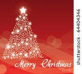 merry christmas   red... | Shutterstock .eps vector #64404346