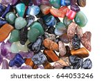 color natural mineral gems as... | Shutterstock . vector #644053246