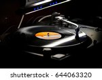 dj turntables needle cartridge... | Shutterstock . vector #644063320