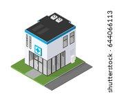 isometric medical clinic...   Shutterstock .eps vector #644066113