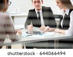 business people working with... | Shutterstock . vector #644066494
